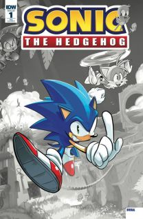 Sonic The Hedgehog #1 cover